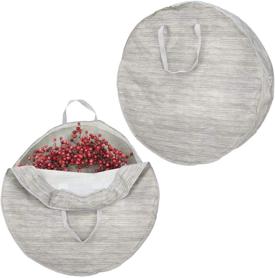 All items free shipping shop mDesign Soft Fabric Stripe Wreath Zipper Storage Bag - Easy-Pull