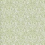 Melody Jane Maison de Poupées Vert sur Blanc Gland Papier Peint William Morris Design