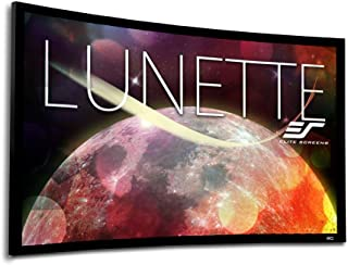 Elite Screens Lunette Series, 150-inch Diagonal 16:9, Sound Transparent Perforated Weave Curved Home Theater Fixed Frame P...