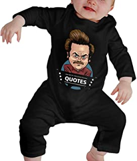 Lucky Star Ron Swanson Baby Bodysuit Long Sleeve Jersey Bodysuit Cotton T Shirt 2t