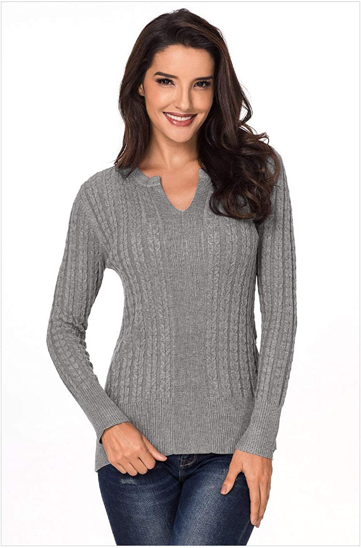 SilkRoadOriginal Women Ribbed Cable Knit Women Sweater