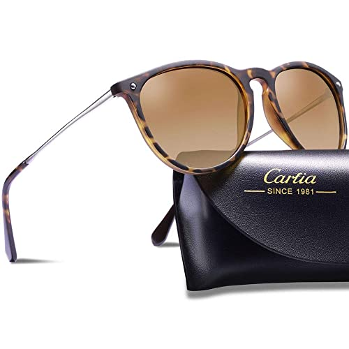 960b84b661 Carfia Vintage Polarised Mens Womens Sunglasses UV400 Protection for  Driving Travel Outdoors