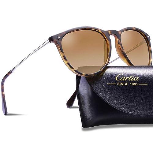 6602340d83 Carfia Polarized Sunglasses for Women Men Vintage Style 100% UV400  Protection