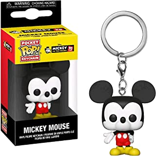 Mickey Mouse: Mickey's 90th Anniversary x Funko Pocket POP! Mini-Figural Keychain + 1 Classic Disney Trading Card Bundle [32568]