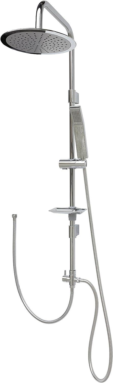 Shower Set Shower System Overhead Shower Shower Shower Rail 120?cm Rain Shower Shower Head Shower Set Shower Rail Shower Head Adjustable Holder 40?cm for Existing Drill Holes MP1915?–?25?cm