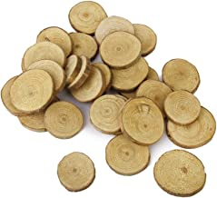 PIXNOR Leorx 30Pcs 3-4Cm Wood Log Slices Discs For Diy Crafts Wedding Centerpieces