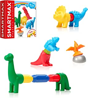 SmartMax My First Dinosaurs STEM Magnetic Discovery Building Set with Soft Animals for Ages 1-5