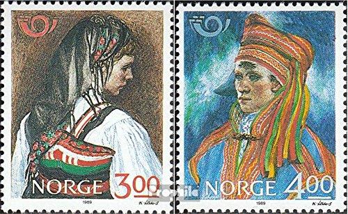 Prophila Collection Norwegen 1017-1018 (kompl.Ausg.) 1989 Volkstrachten (Briefmarken für Sammler) Uniformen / Trachten