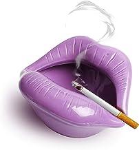 Ceramic Ashtray,Lip Cigarette Holder Smoking Accessories Lips Home Table Ornament Figurines Ashtray Creative Cigar Ash Tra...