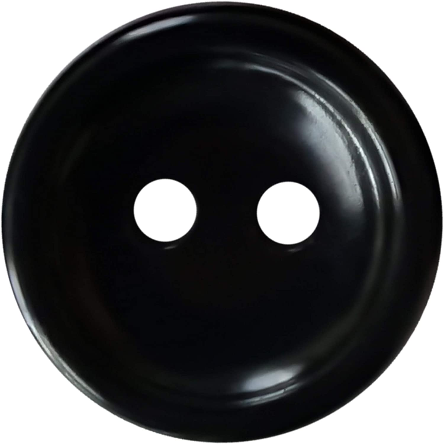 Black Buttons 0.80 inch Sewing Buttons Black 2 Hole Plastic Larg