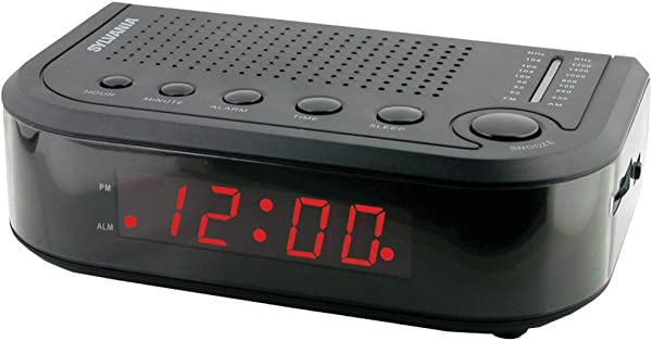 SYLVANIA SCR1388 AM FM Clock Radio