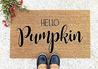 Hello Pumpkin Doormat - Thanksgiving Doormat - Welcome Mat - Welcome Door Mat - Cute Doormat - Funny Doormat - Personalized Doormat - Pumpkin Doormat