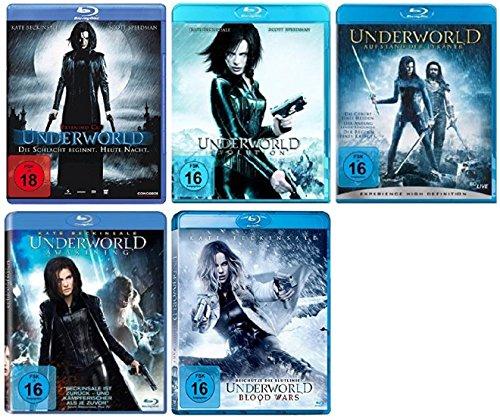Underworld - Teil 1+2+3+4+5 (1-5) [Blu-ray Set] inkl. Blood Wars