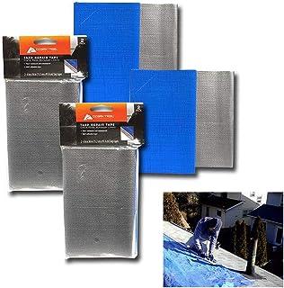 タープ修理テープ 6インチ×36インチ 粘着パッチ テント キャノピー キャンバス 防水 4個