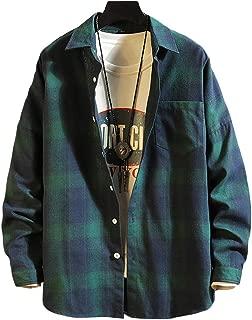 Masvis メンズ シャツ 長袖 チェックシャツ 綿 ワイシャツ 折襟 カジュアル 柔らかい おしゃれ ギンガムチェック ネルシャツ 春 夏 秋