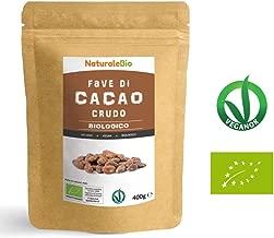 Fave di Cacao Crudo Biologico da 400g   100% Bio, Naturale e Puro   Prodotto in Perù dalla Pianta Theobroma Cacao   Superfood Ricco di Antiossidanti, Minerali e Vitamine   NaturaleBio