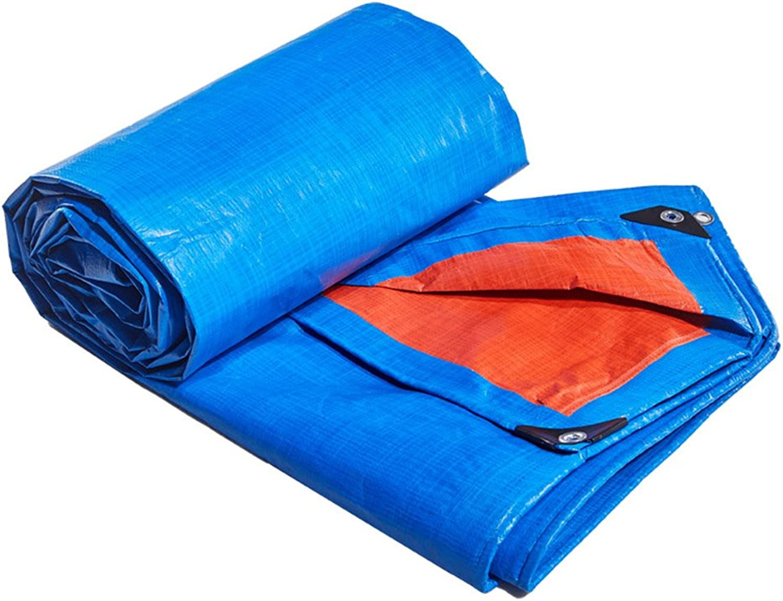 Tarpaulin HUO HUO HUO Plane Wasserdichte Regen Tuch Picknick-Matte Pflanzen Sonnenschutz Auto Shade Schuppen Tuch Staubdicht Wärmedämmung, Blau  Orange (größe   5  10m) B07DRBXBYK  Auktion 28fbed