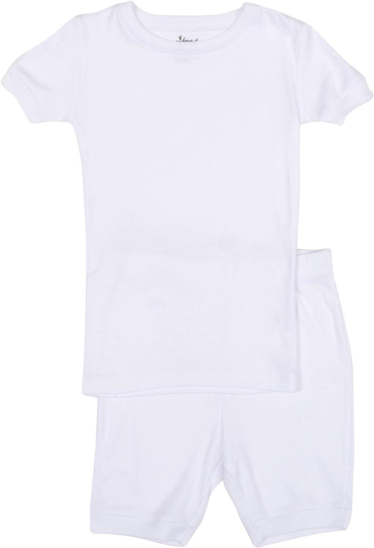 Leveret Solid Shorts Pajamas Boys & Girls 2 Piece Pajama Set 100% Cotton (Size 2-10 Years)