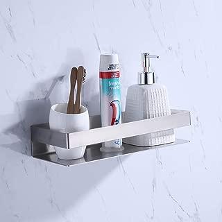 KES Bathroom Shelf Stainless Steel Bath Shower Shelf Basket Caddy RUSTPROOF Square Modern Style Wall Mounted Brushed Finish, BSC205S30A-2