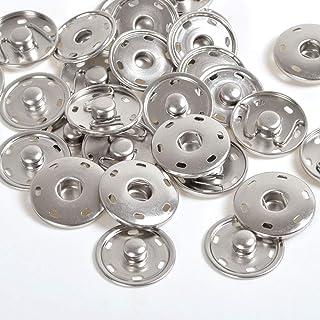 100 ganci da cucire da 12 mm e chiusura occhi per bottoni automatici