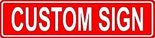 Custom 6x24 Red Aluminum Road Sign