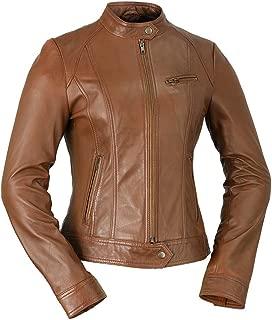 Whet Blu WBL1025-Whiskey-XS-Favorite Whiskey X-Small Faux Leather Jacket