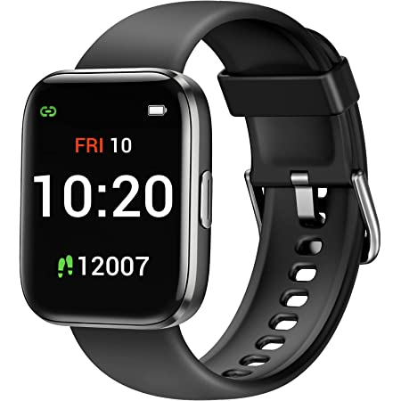 Letsfit IW1 Smart Watch for Android Phones Compatible with iPhone, 1.4 Inch Touch Screen Smartwatch with Blood Oxygen Saturation & Heart Rate Monitor, IP68 Waterproof Fitness Tracker for Women Men