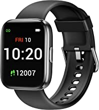 ساعت هوشمند Letsfit برای تلفن های Android سازگار با iPhone Samsung ، ردیاب تناسب اندام با اشباع اکسیژن خون
