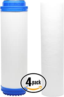 4-Pack Replacement Filter Kit for Aqua Pure SST1 RO System - Includes Polypropylene Sediment Filter & Granular Activated Carbon Filter - Denali Pure Brand