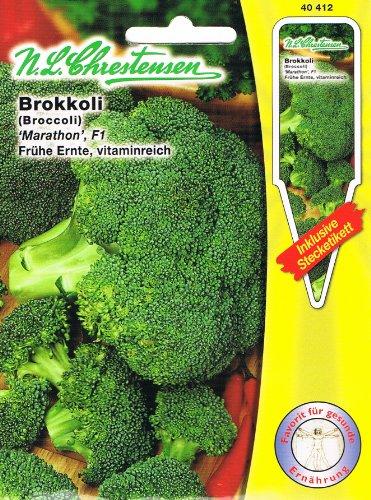 Brokkoli Marathon F1, récolte précoce, vitaminie (avec étiquette d'emboîtage)