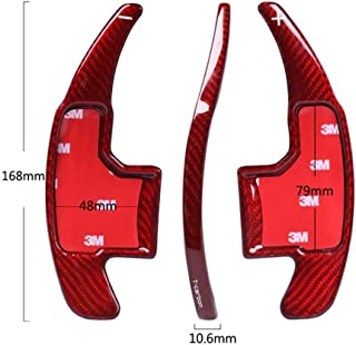 Topsmart Carbon Fiber Car Steering Wheel Shift Blade Paddle Shifter Extension For Ford Mustang (red)