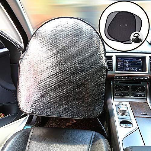 iZoeL Cubierta del volante del coche sombrilla 50cm*46cm Todos los coches +2 piezas Ventana lateral Quitasol 44 * 36 cm (Update)