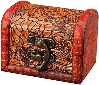 OrchidAmor Jewelry Box Vintage Wood Handmade Box With Mini Metal Lock For Storing Jewelry Treasure Pearl