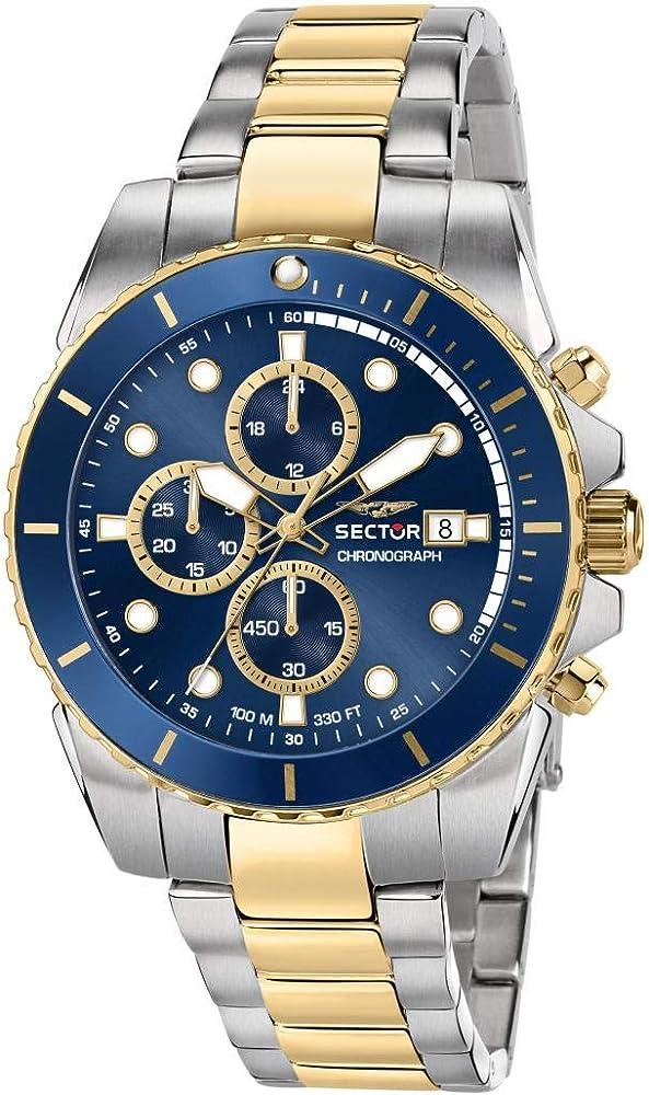 Sector no limits orologio cronografo da uomo in acciaio inossidabile R3273776001