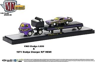M2 Machines Auto Hauler Release 26 1969 Dodge L600 & 1971 Dodge Charger R/T