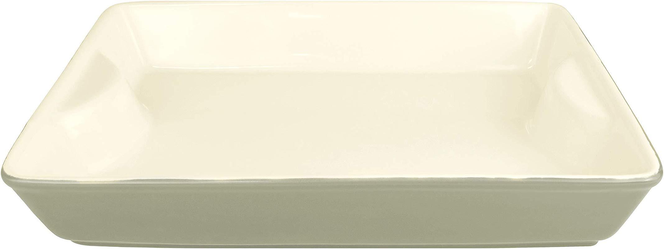 LE REGALO Stoneware Rectangular Baking Dish 11 X8 X2 White