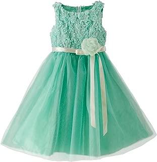 Catherine Cottage 結婚式 発表会 フラワーガール バラのラメチュール ドレス 子供ドレス PC728YK