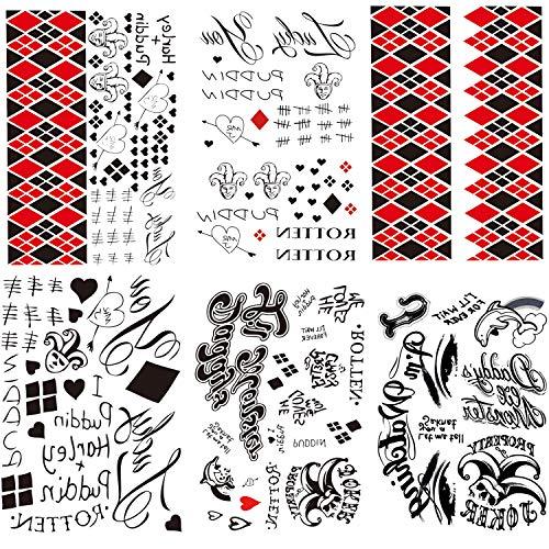 614y+ZQkRML Harley Quinn Tattoos
