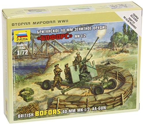 Zvezda 500786170 - 1:72 Britische Bofors 40 mm Mk-2 Flak