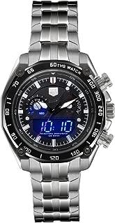 Men Dual Display Watches TVG Watch LED Screen Large Face Analog Digital Watch Waterproof Sport Watch Military Wrist Digital Watches