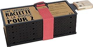COOKUT - Lumi Raclette à la Bougie pour 2 - Faites Fondre Votre raclette en 3 Minutes - Spatule Bois Incluse - sans électr...
