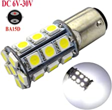 Ruiandsion 2pcs BA15D LED Bulbs Super Bright 6-30V 5050 27SMD LED Reverse Backup Turn Signal Tail Light Bulbs,6000K White