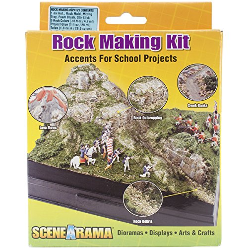 Woodland Scenics cartón Diorama Kit Rock Making