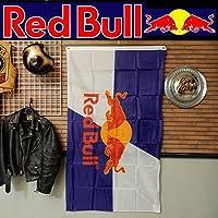 リアル・フラッグ 旗 Red Bull Flag レッドブル タペストリー アメリカン雑貨 ガレージ インテリア