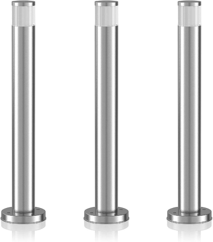 Parlat LED Sockelleuchte Pillar, wetterfest, aus Aluminium, 50cm, warm-wei, 3 STK.