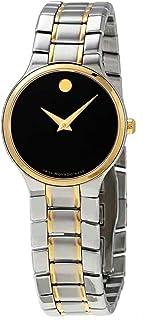 Serio Quartz Black Dial Two-Tone Ladies Watch 0607289