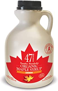 47 North Canadian Organic Maple Syrup, Single Source, Grade A, Amber Rich, 500ml