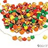 500 Fabulous Foam Thanksgiving Harvest Mix Bead Assortment - Turkey Fall Leaves Pumpkin Art & Craft Supplies & Kids' Beading Supplies by FE by CusCus