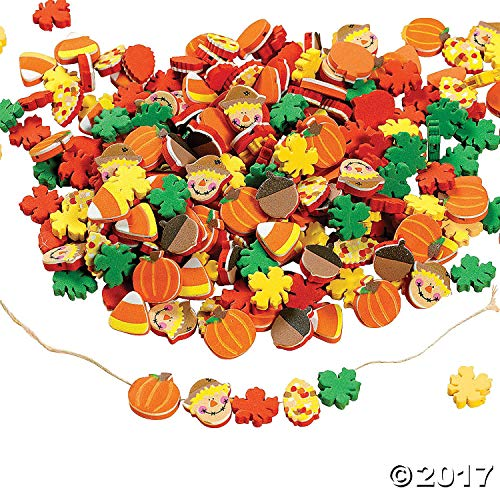 Fabulous Foam Harvest Bead Mix - Crafts for Kids and Fun Home Activities