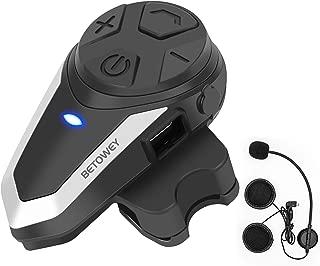 BETOWEY Helmet Bluetooth Headset,1x BT-S3 Motorcycle Communication Systems Intercom